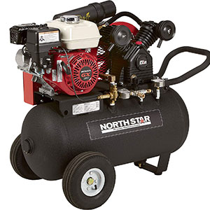 NorthStar-Portable-Gas-Powered-Air-Compressor---Honda-163cc-OHV-Engine,-20-Gallon-Horizontal-Tank,-13.7-CFM-at-90-PSI