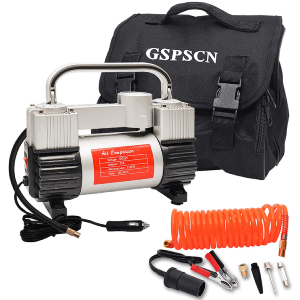GSPSCN Silver Tire Inflator Heavy-Duty Air Compressor