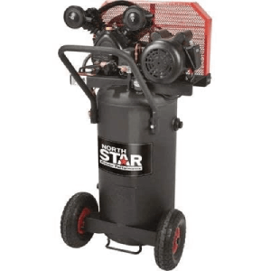 NorthStar Single-Stage Portable Electric Air Compressor - 2 HP, 20-Gallon Vertical, 5