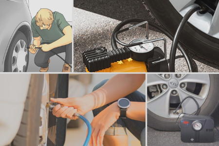 Inflate Car Tires At Home